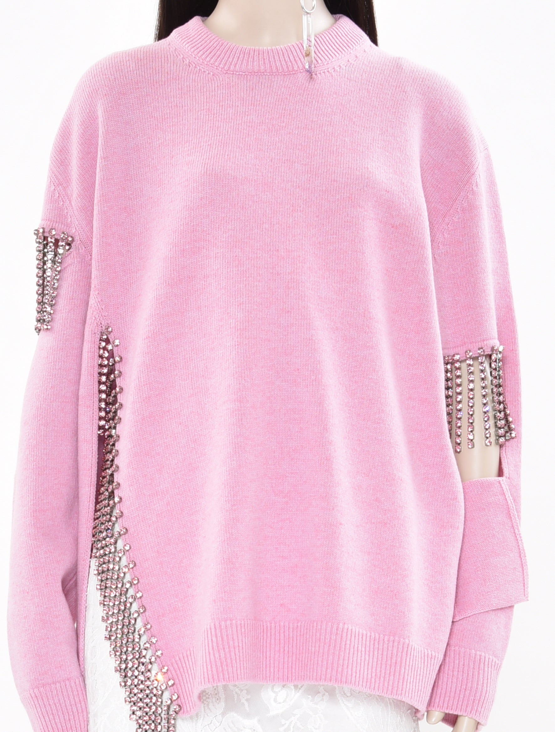Cutout Cup Chain knit Sweater