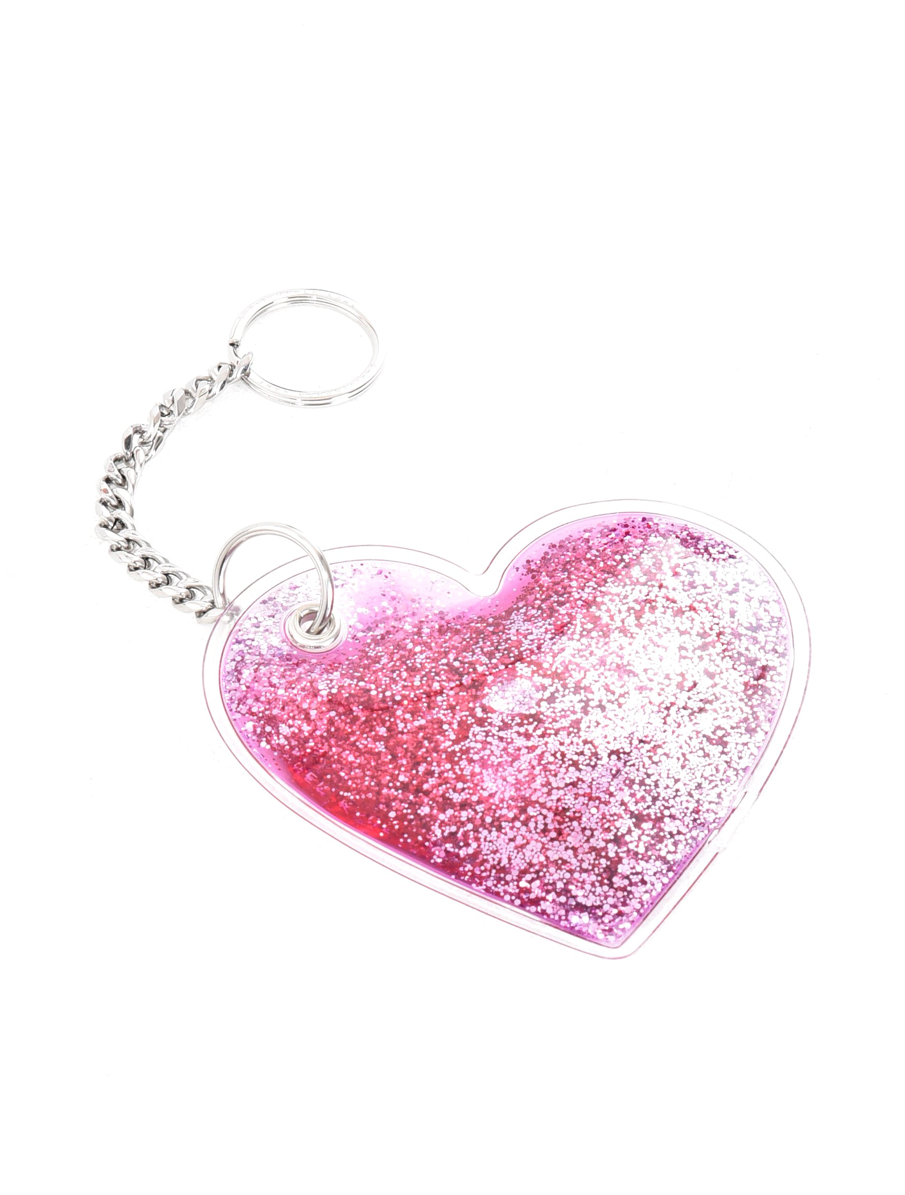 Christopher Kane Heart Shape Liquid PVC Key Ring