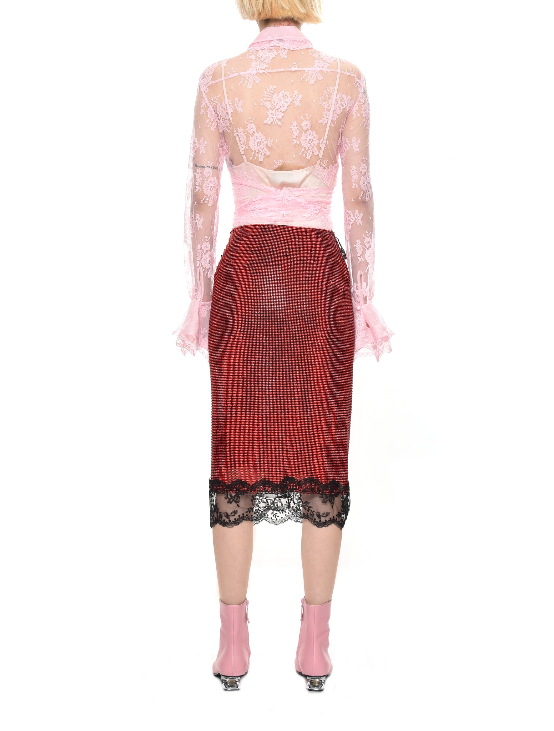 Crystal Mesh Skirt