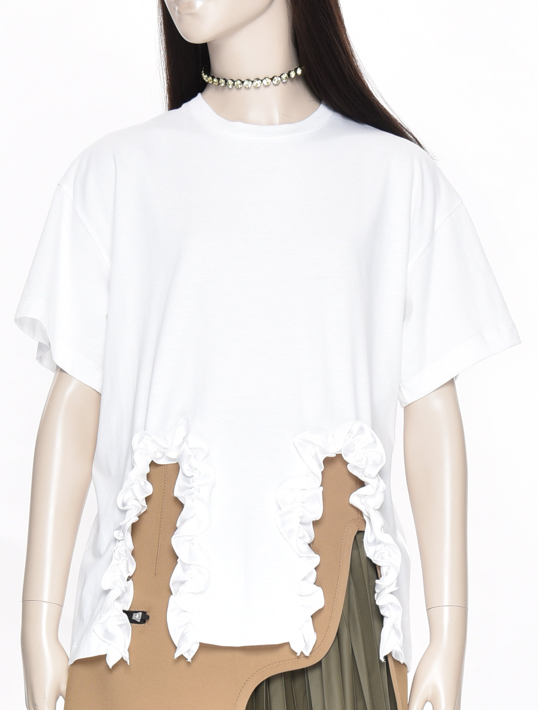 Christopher Kane Frill Cut Out TShirt