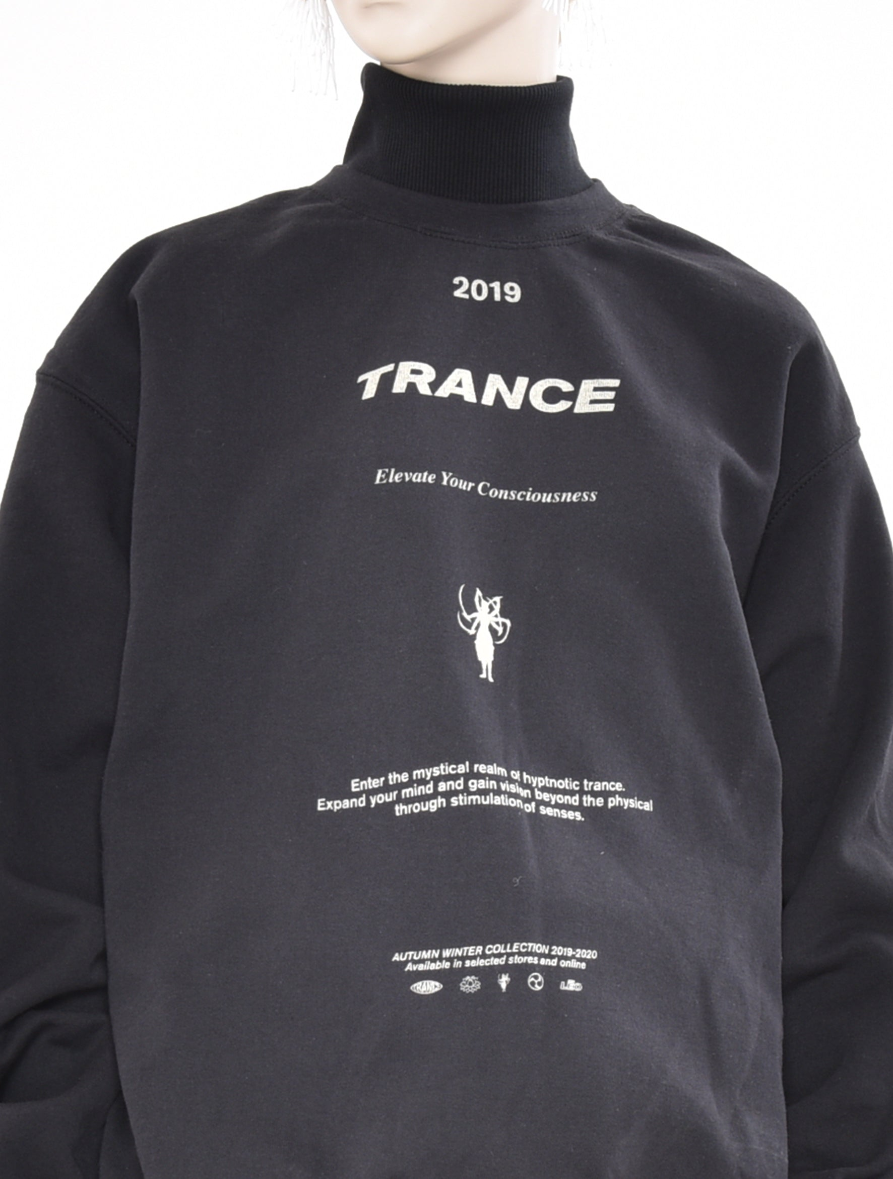 Banba Trance Screen Print Turtleneck Sweatshirt