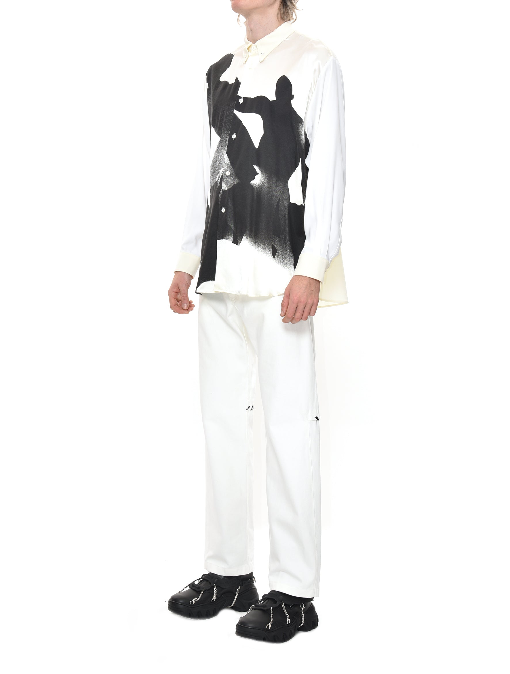 Magliano Stone Age Movida Button Down in Fog White