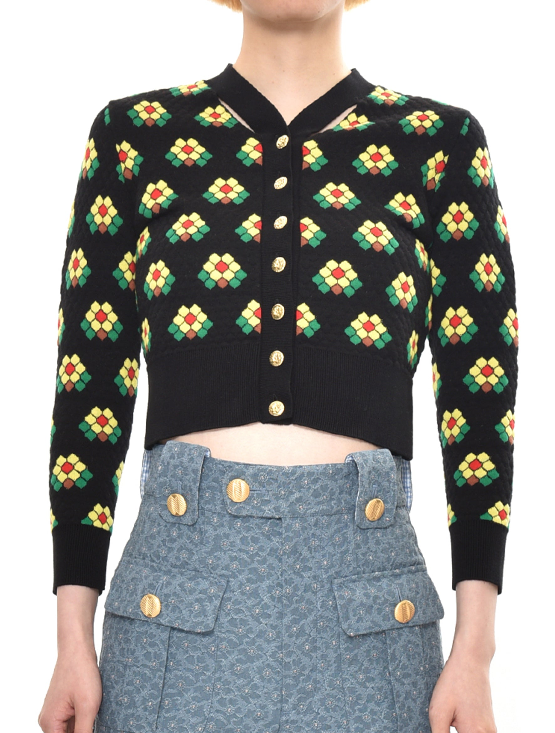 WC Floral Tiles Cardigan