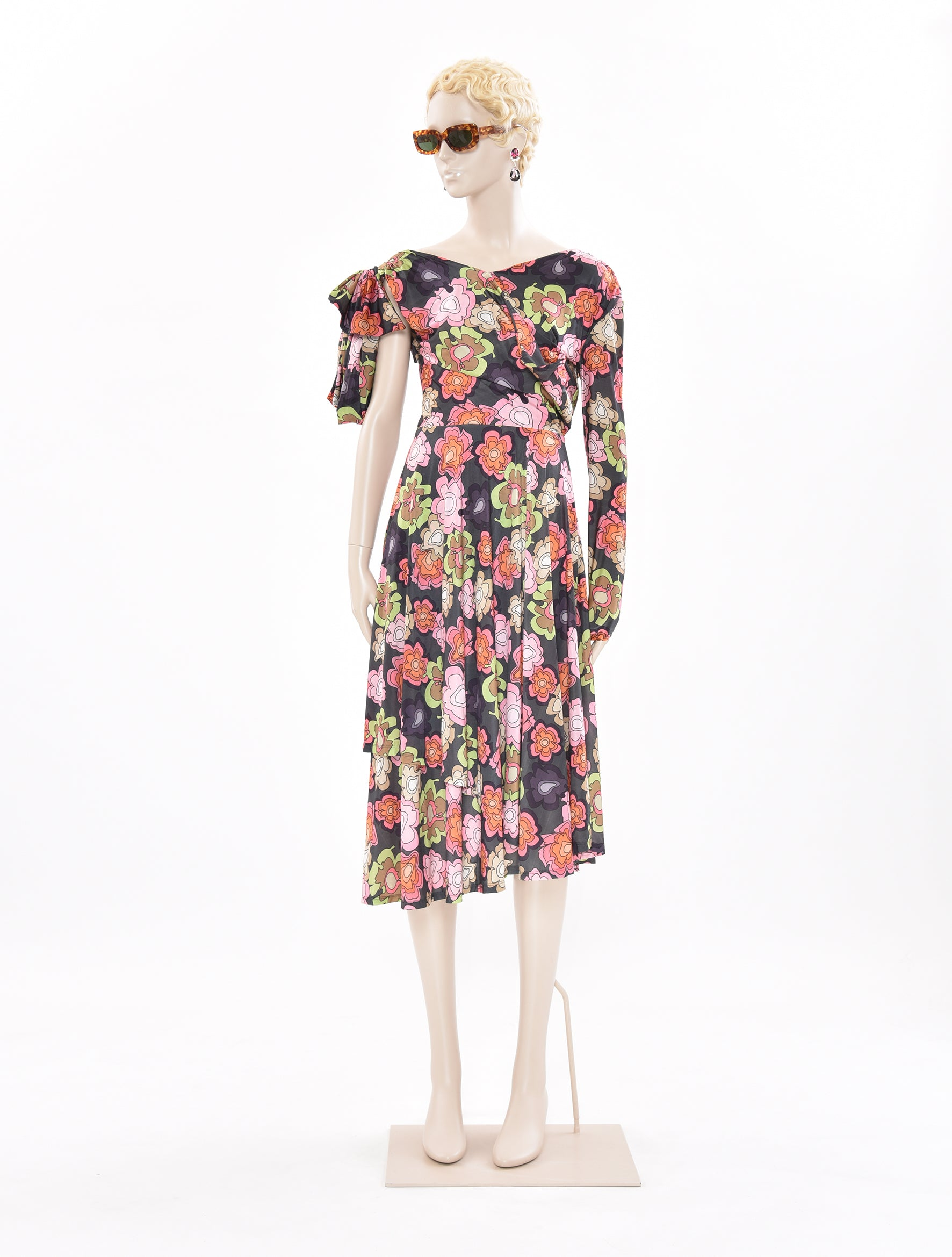 x DDP Black Flower Dress