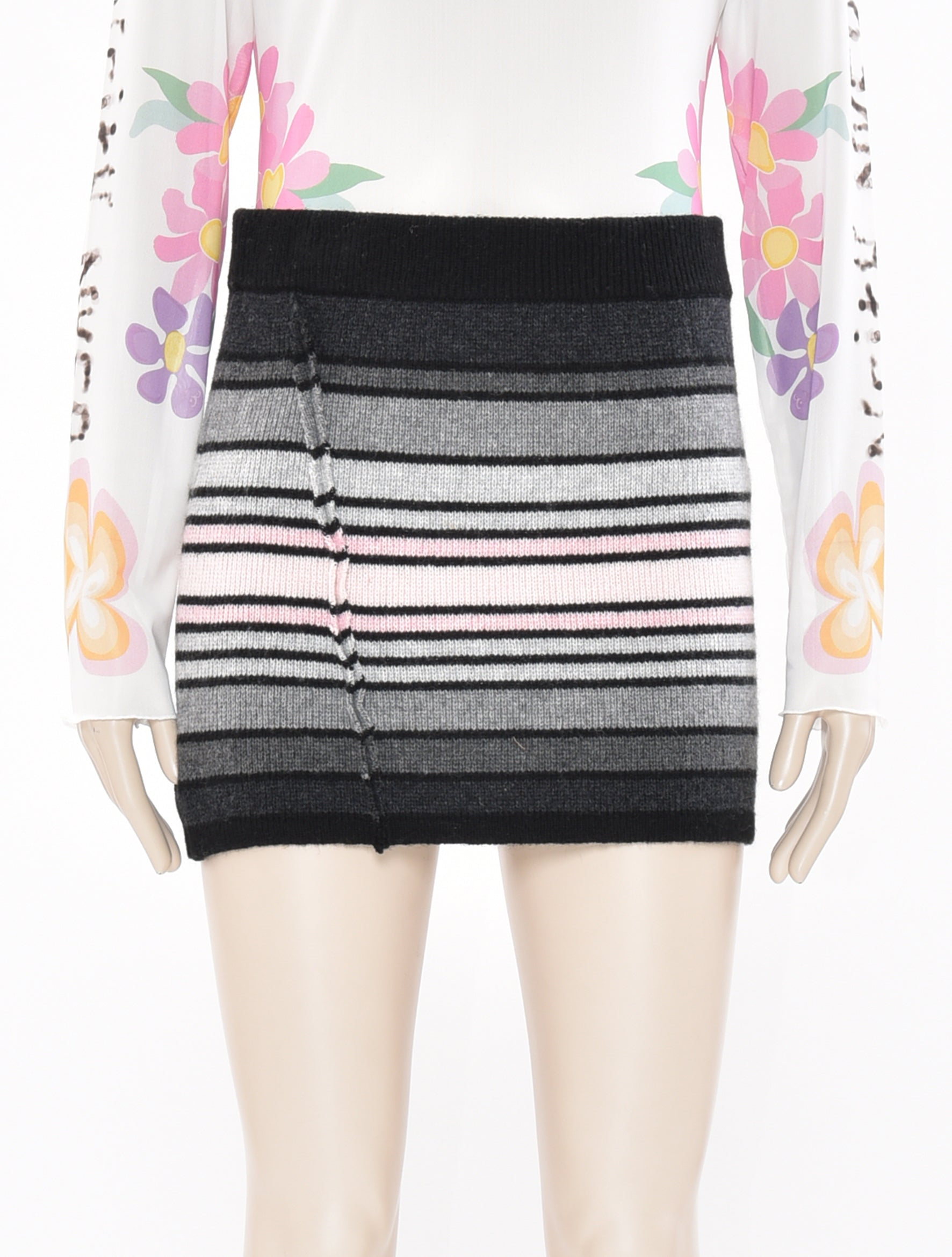 x DDP Stripe Skirt