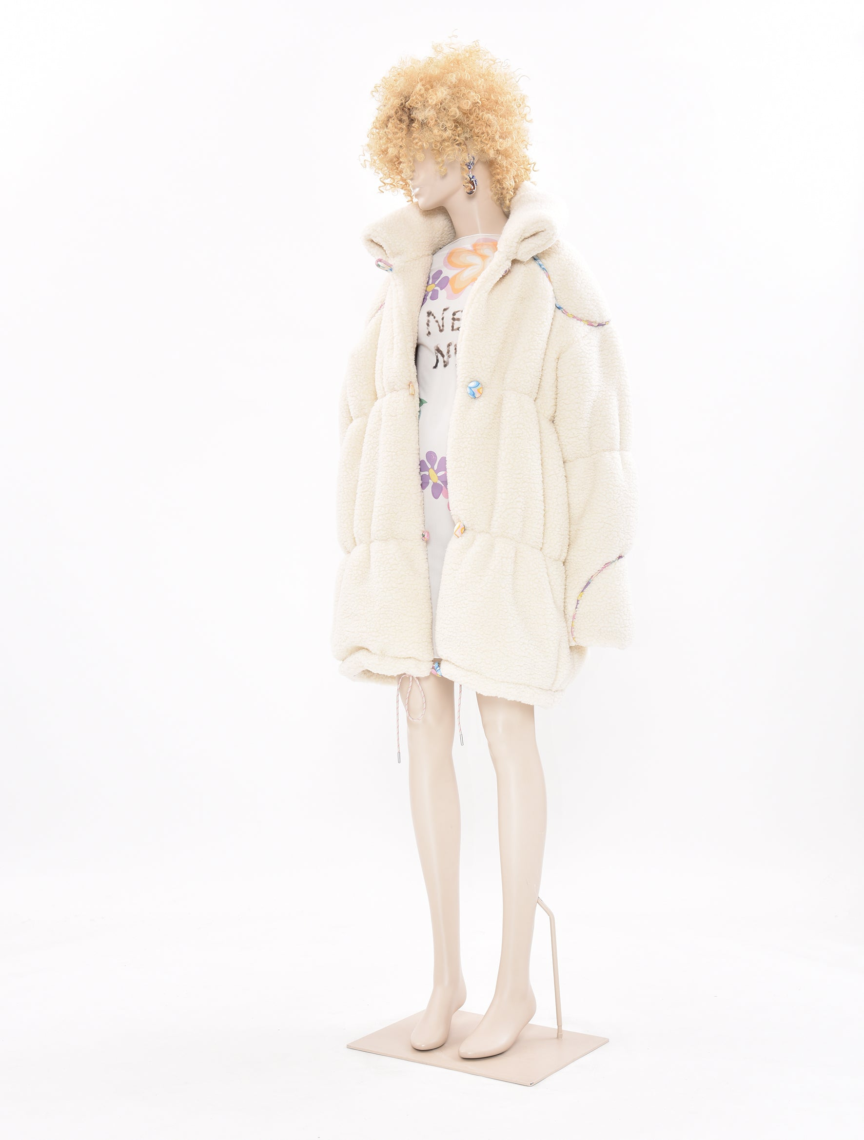 Neith Nyer DDP White Puffa Coat
