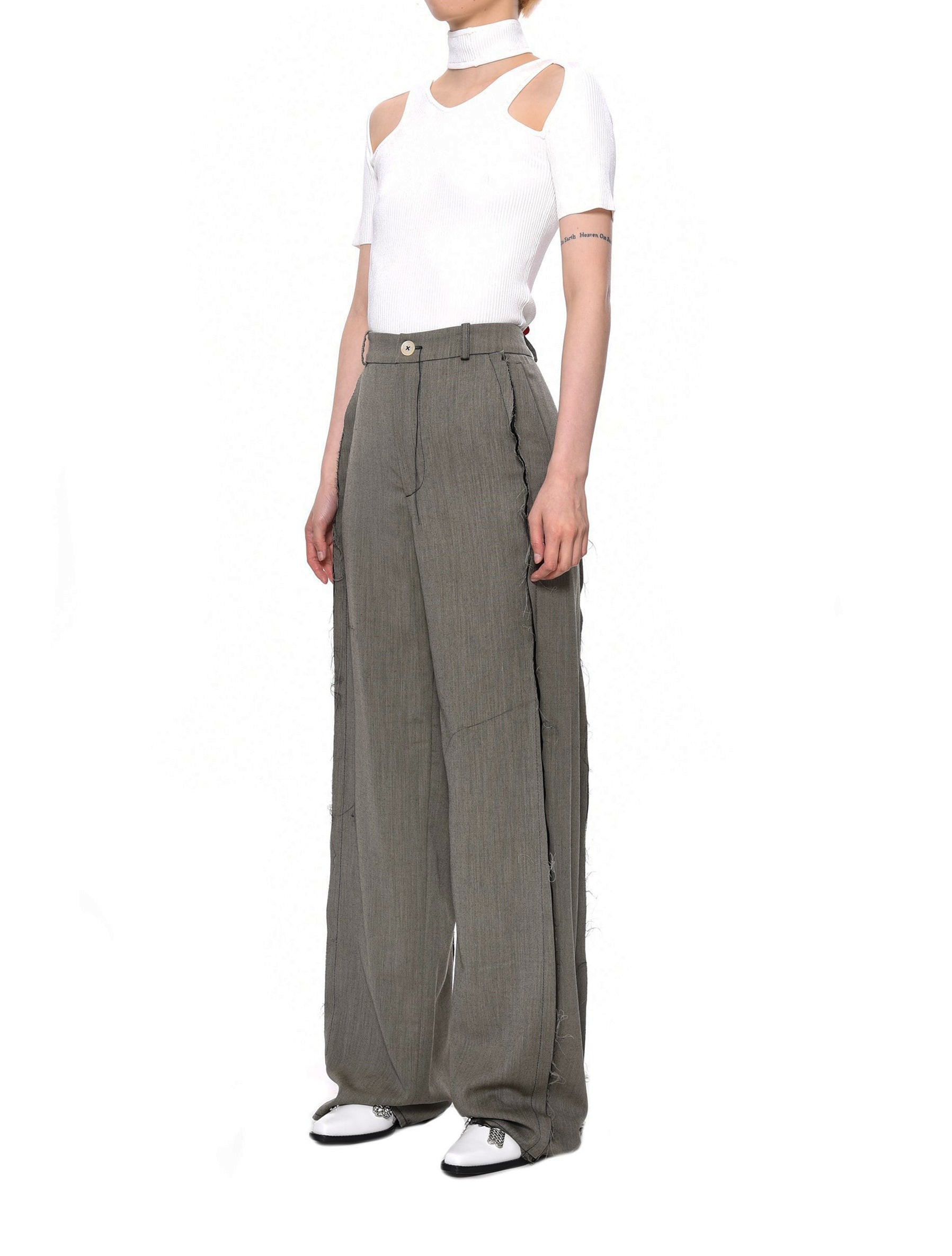 Ninamounah Pasque Raw Edge Suit Trousers