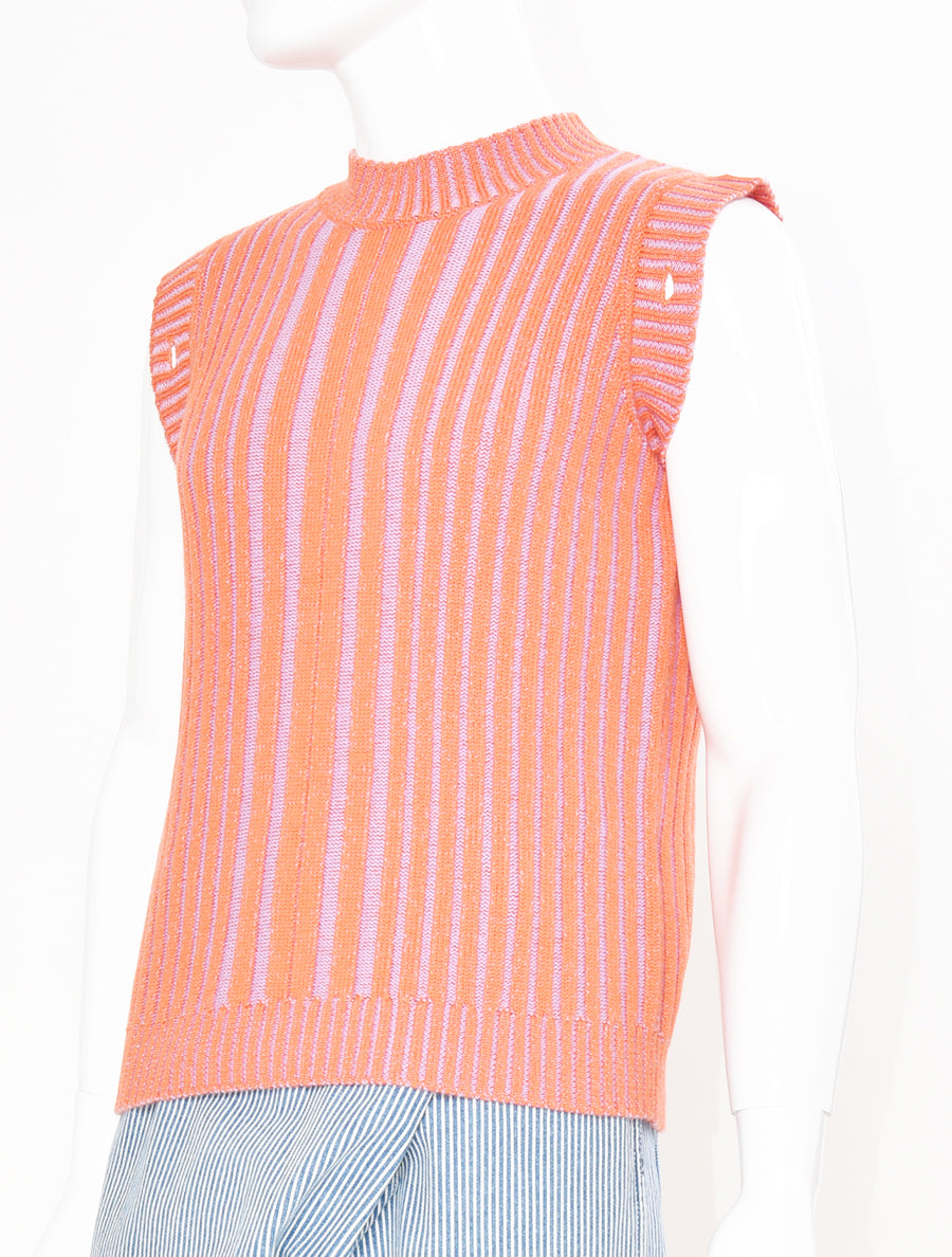 Knitted Contrast Rib Jumper