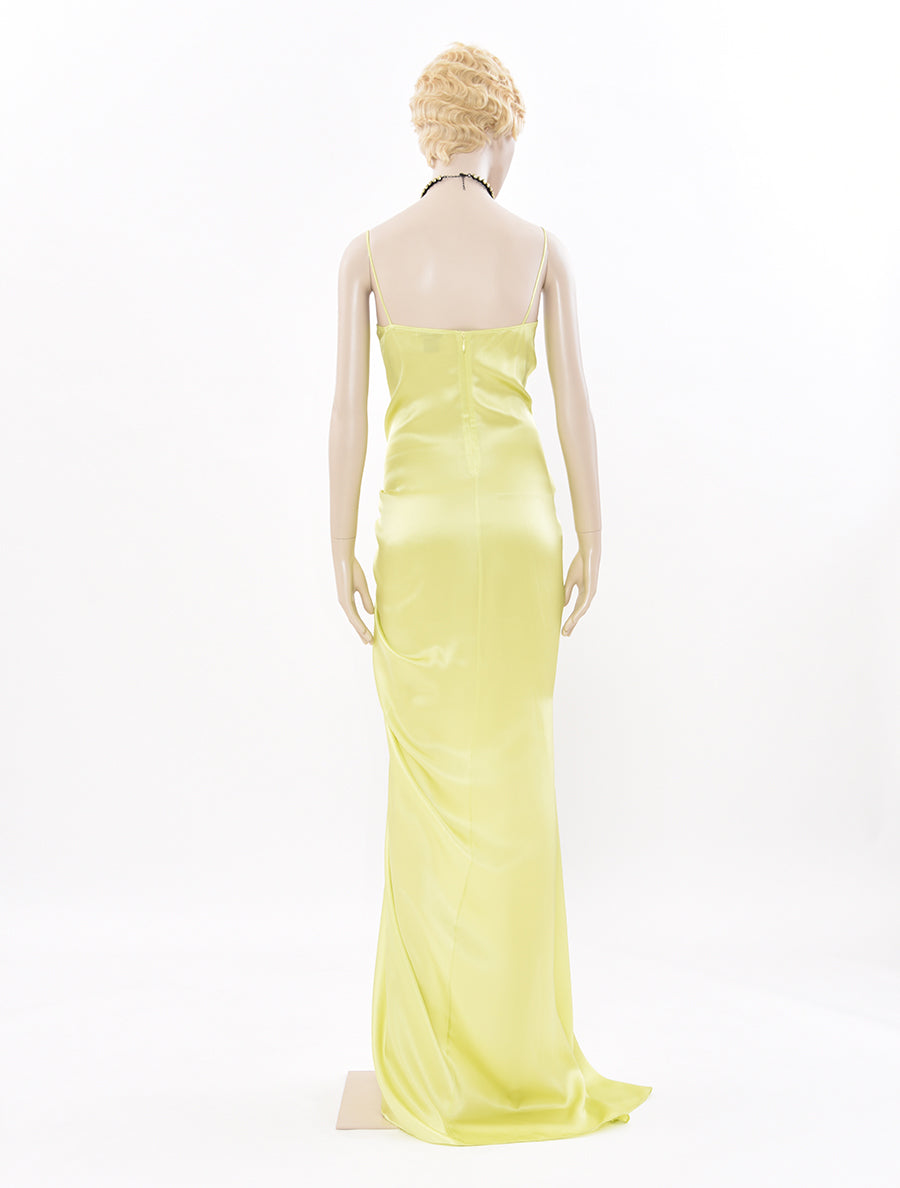PRISCAVera Ruched Long Dress
