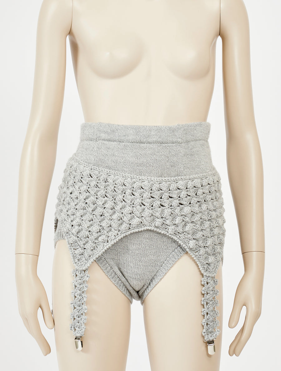 Siiilon Herrero Knitted Short Grey