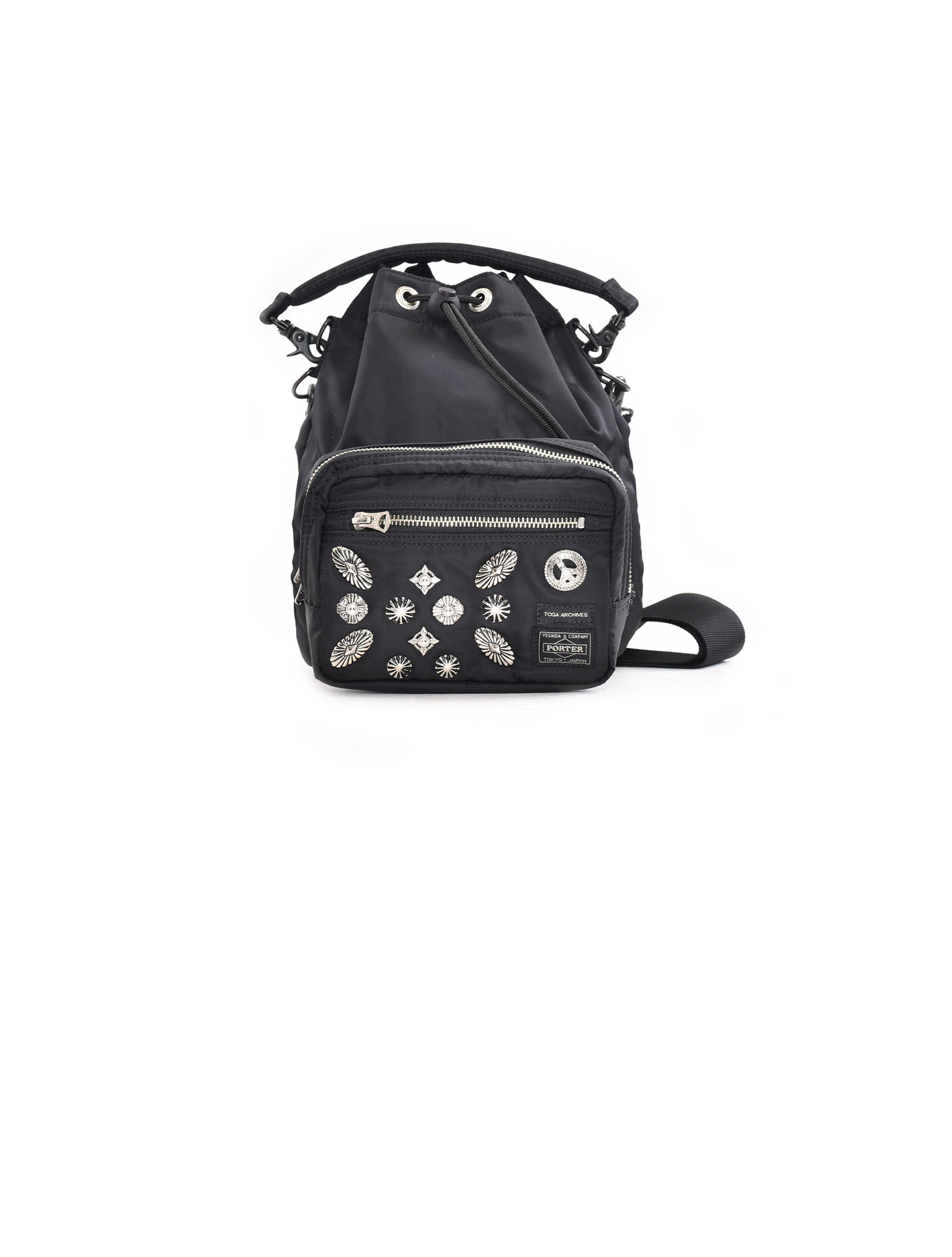 x Porter Black String Bag
