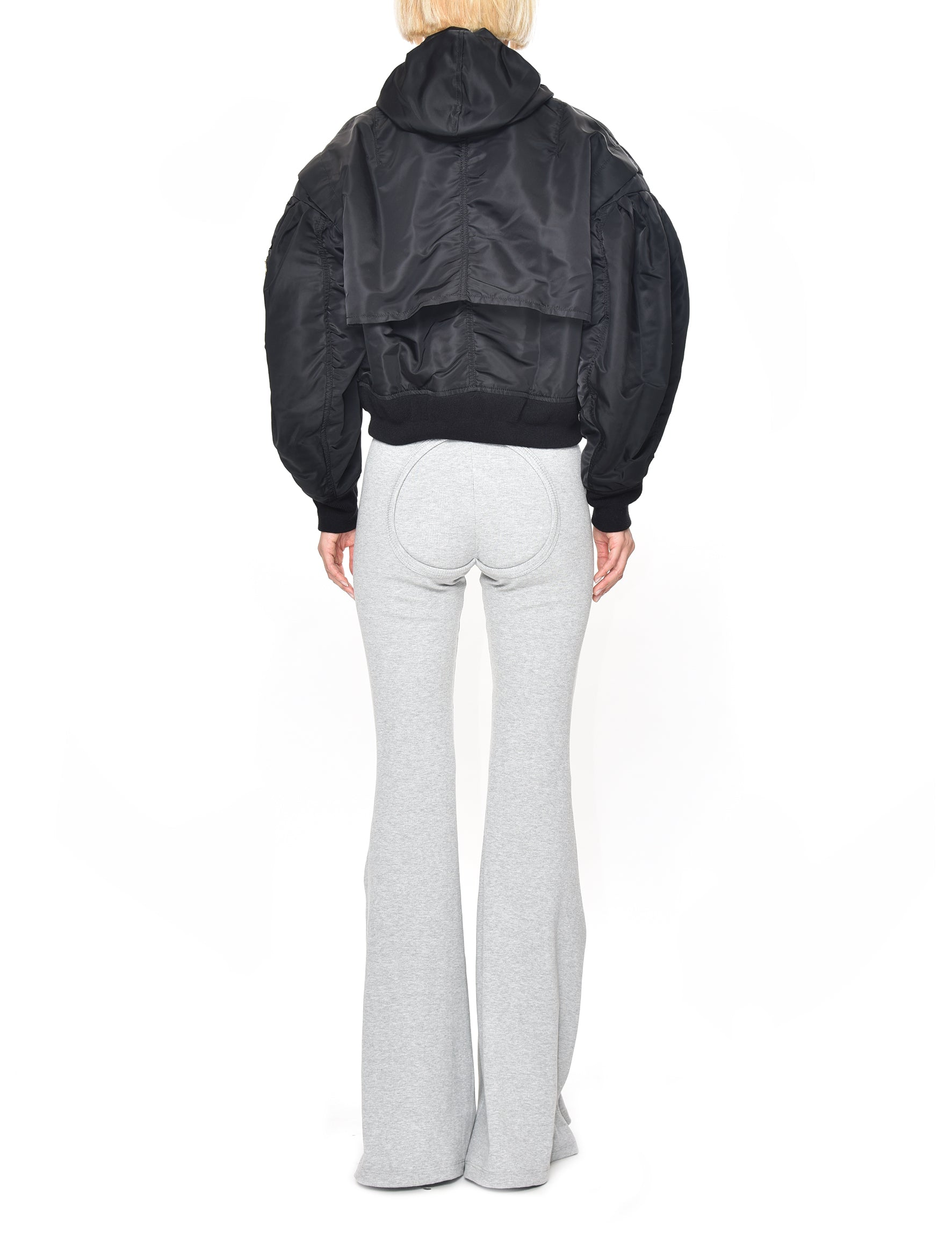 Black Nylon Twill Blouson