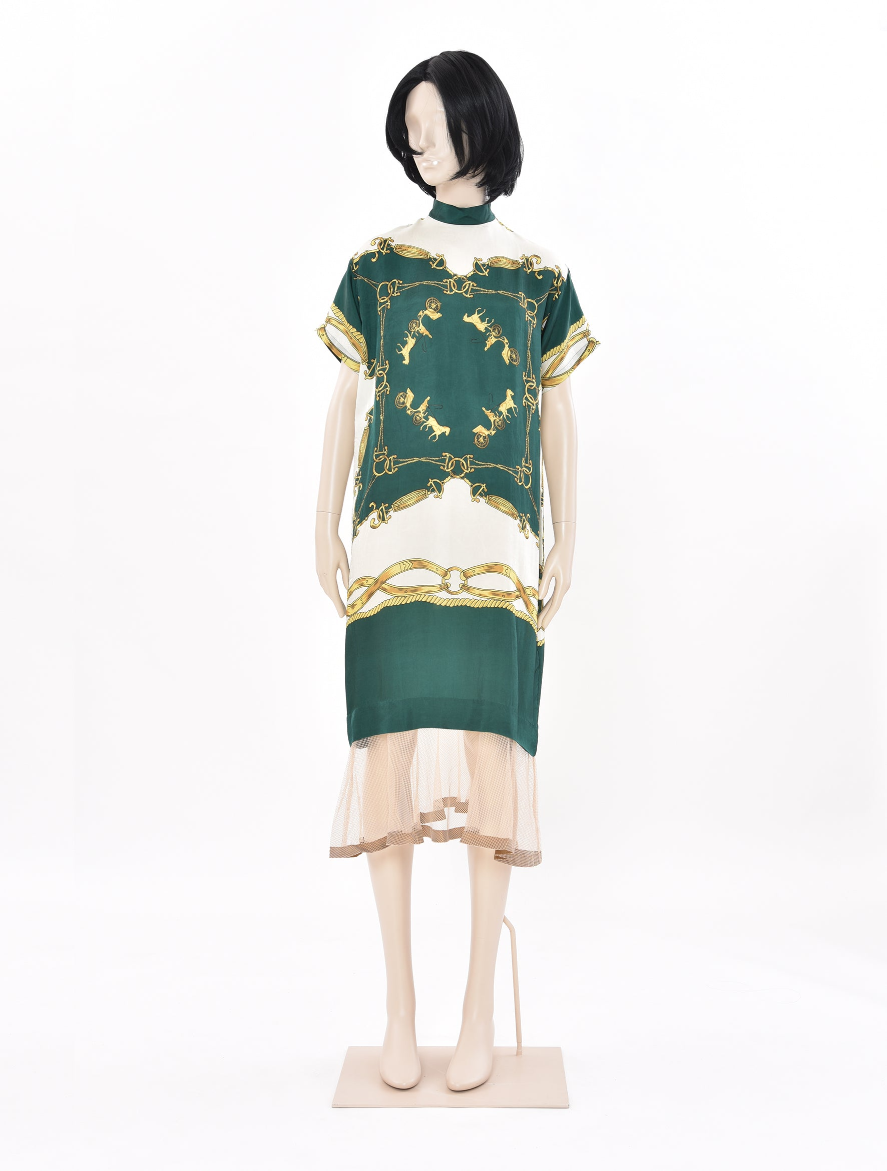 Cupra Printed Dress Green