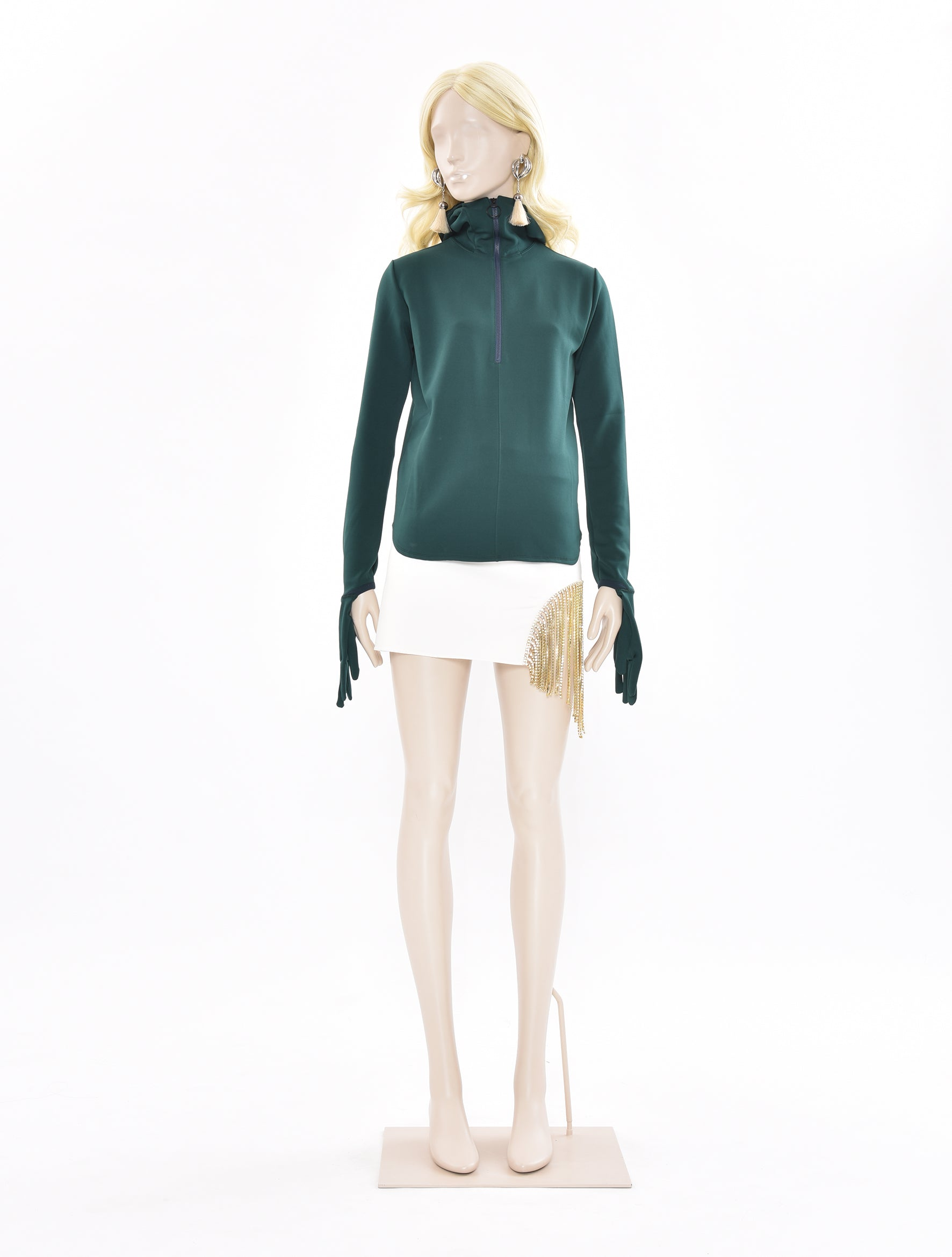 Tricot Green Jersey Hoodie Top