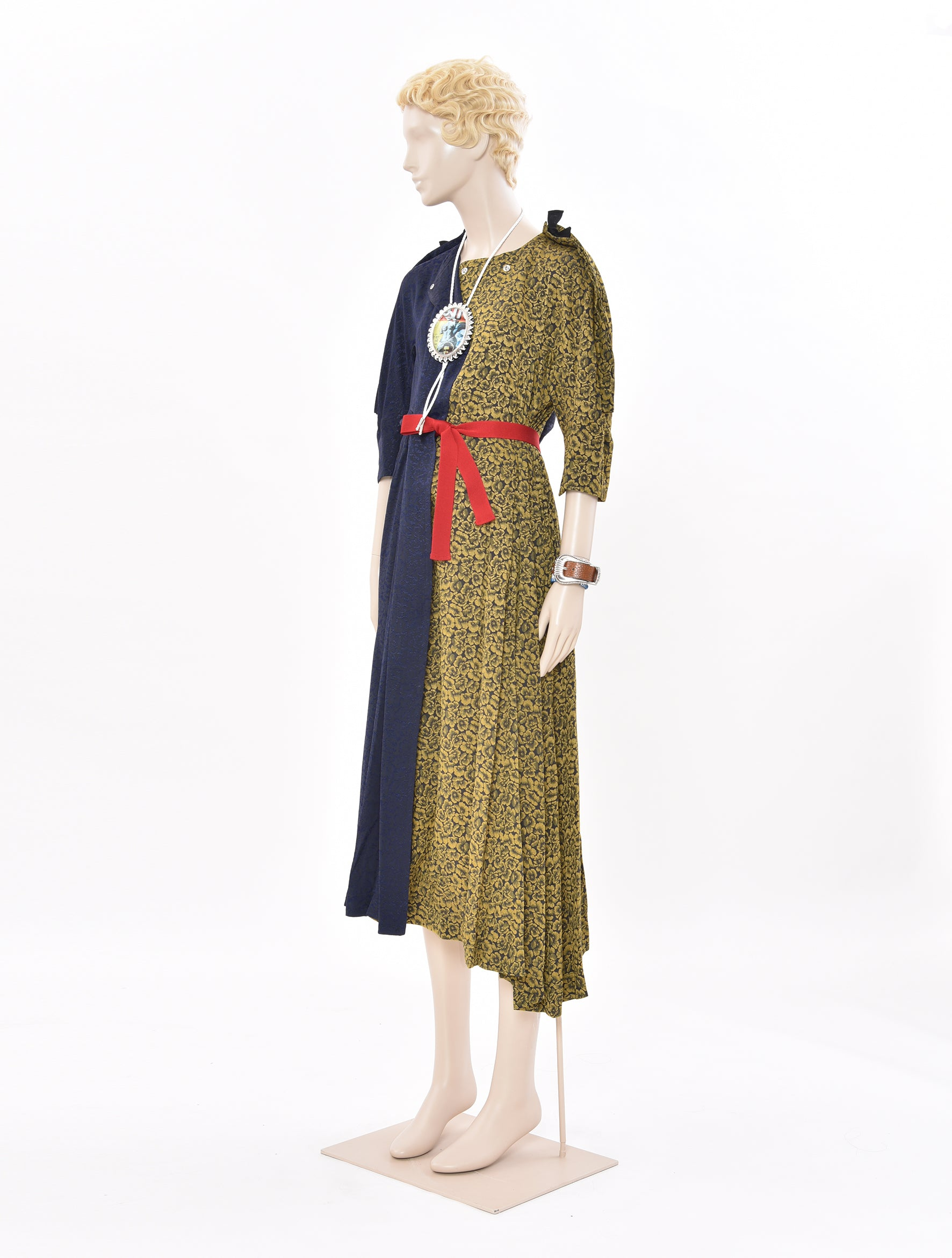 Acetate Jacquard Split Dress