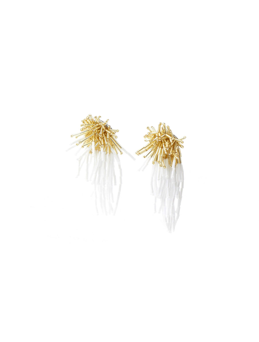 Toga Pulla Beads Earrings White