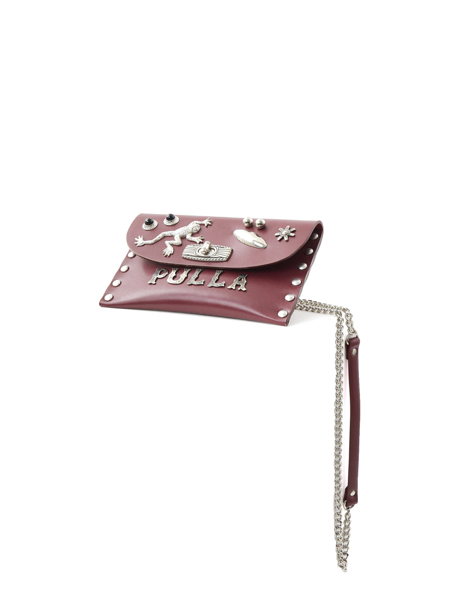 Toga Pulla Metal Chain Bag Dark Red
