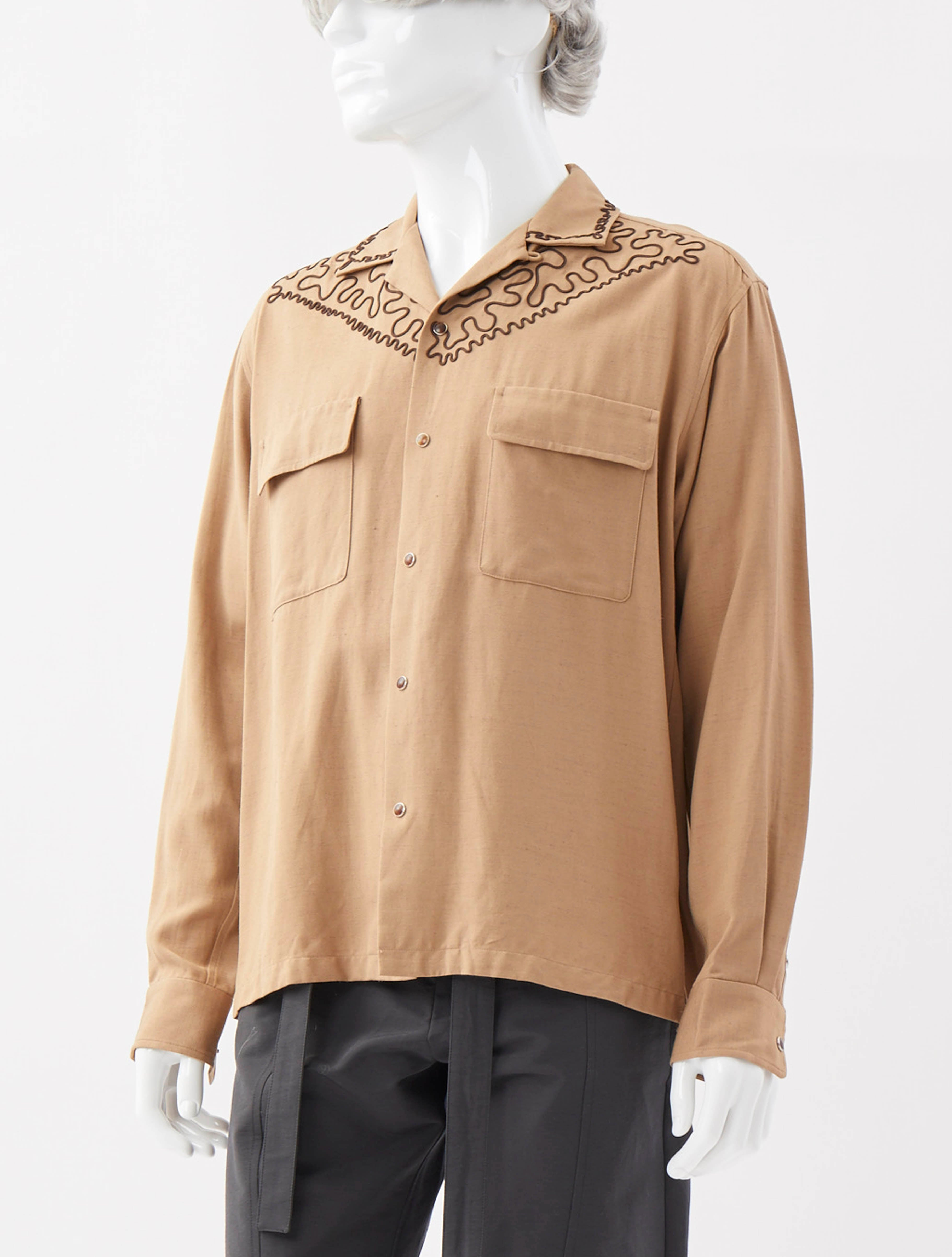 Cord Embroidery Shirt