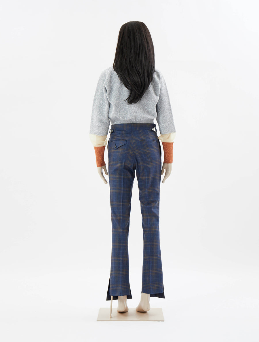 Toga Pulla Wool Check Vent Pants