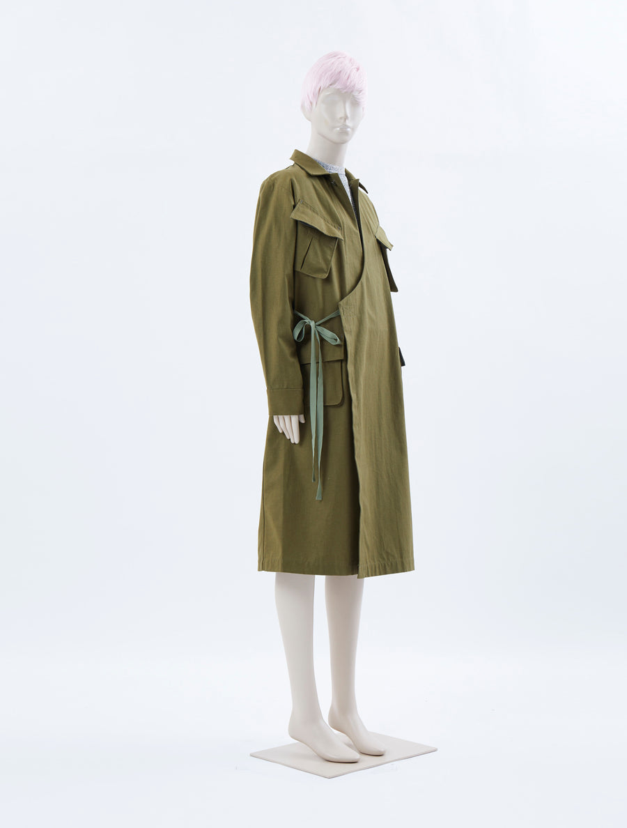 Toga Pulla Cotton Gabardine Coat