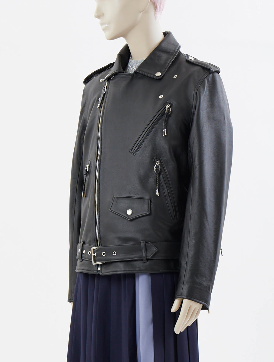 Toga Pulla Leather Lace-up Jacket