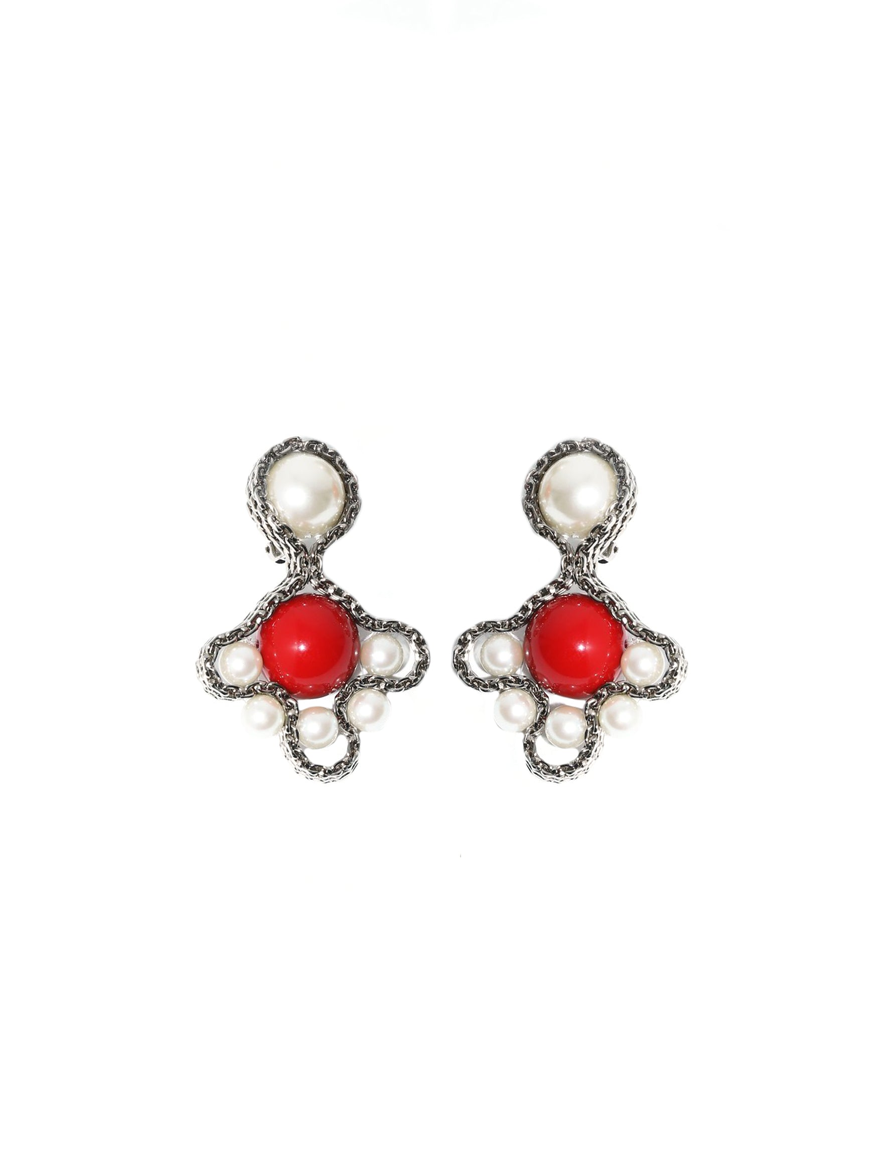 Toga Pulla Red Clover Earrings