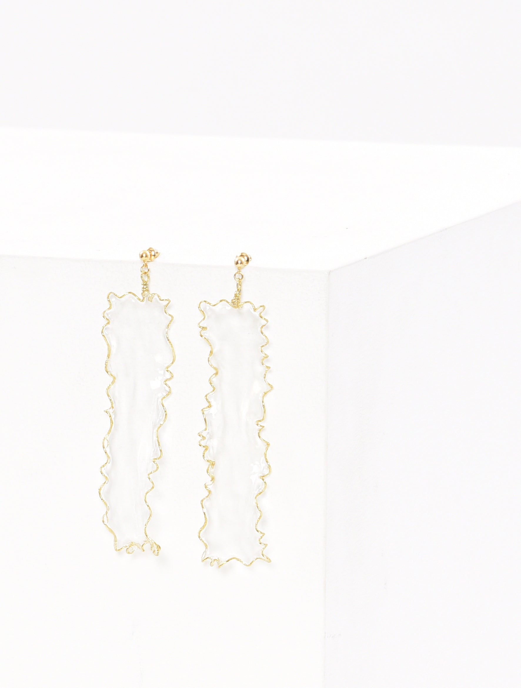 Clear Dip Art Earring
