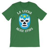 La Lucha Never Stops - Luchador Mask Graphic T-Shirt