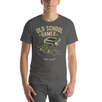 Old School Gamer Born To Play Old Skool Gaming Vintage Graphic T-Shirt