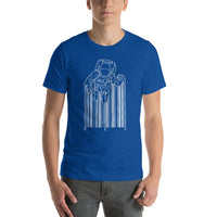 Astronaut & Barcode Graphic Short-Sleeve T-Shirt For Men & Women