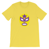 Luchador Mask Yellow and Purple Graphic T-Shirt