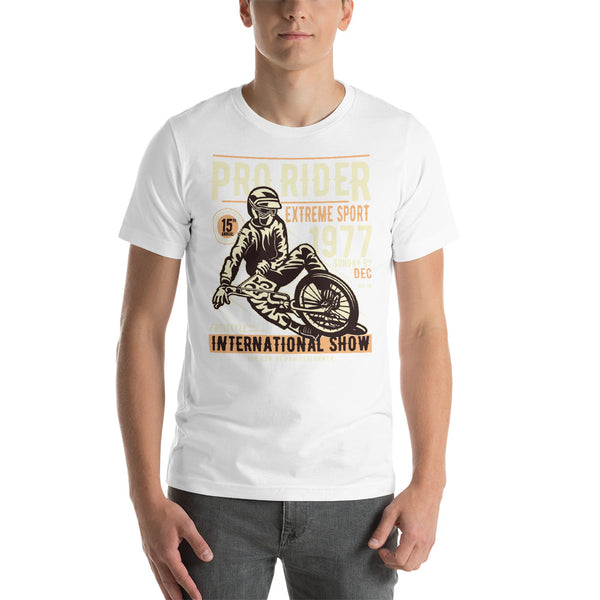 Pro Rider Extreme Sport 1977 International Show Vintage Graphic T-Shirt