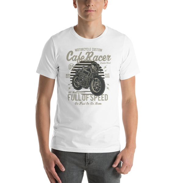 Cafe Racer London Street Full On Speed Go Fast Or Go Home Graphic Vintage T-Shirt