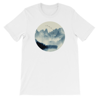 Japanese Mountain Landscape Graphic T-Shirt