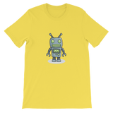 Little Robot Gray & Green Graphic T-Shirt For Men & Women