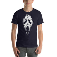 Ghostface Reaper Mask With Forest Woodsy Background Short-Sleeve T-Shirt