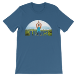 Balance Yoga T-shirt - Steel Blue Tee