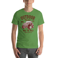 Outdoor Adventure Into The Wild 4x4 1988 The Mountains Are Calling Graphic T-Shirt