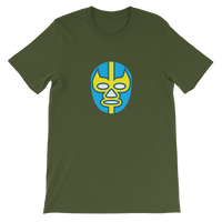 Luchador Yellow & Blue Mask Graphic T-Shirt