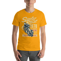 Scooter Racer 1978 Short-Sleeve Graphic T-Shirt For Men & Women
