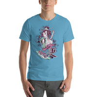 Geisha Japanese Girl Graphic Short-Sleeve T-Shirt For Men & Women