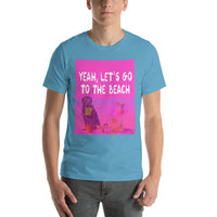 Yeah Let's Go To The Beach Furry Family Graphic Short-Sleeve T-Shirt