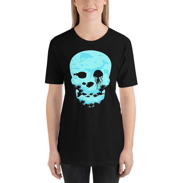 Skull Under The Sea Graphic Short-Sleeve T-Shirt For Men & Women