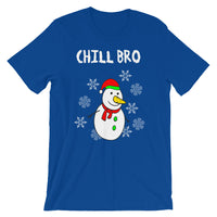 Chill Bro Snowman Graphic T-Shirt - Christmas Tees
