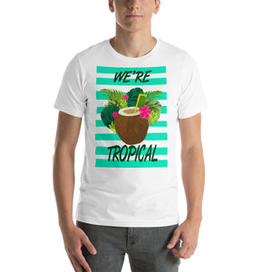 We're Tropical Summer Time Coconut Drink Graphic  T-Shirt
