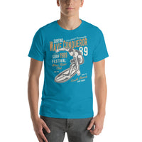 Wave Conqueror South Beach Surf Festival International Championship 1989 Vintage Graphic T-Shirt