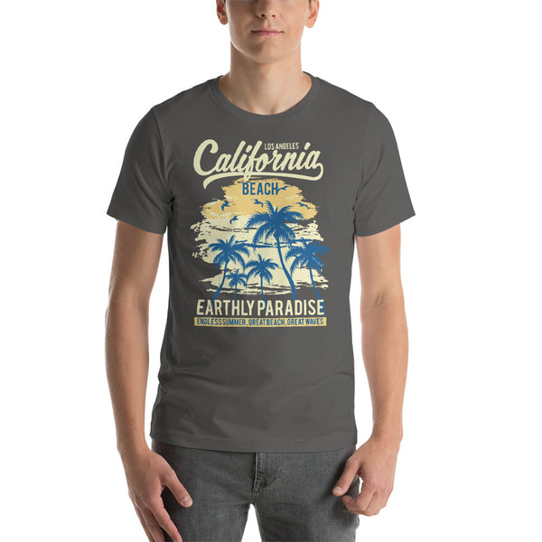 Los Angeles California Endless Summer Beach And Palm Trees Graphic T-Shirt