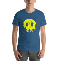 Cool Smiley Face Emoji With Forest Background Short-Sleeve T-Shirt