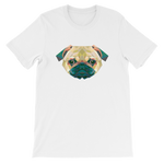 Pug In Polygon Shapes Dog Graphic T-Shirt For Men & Women