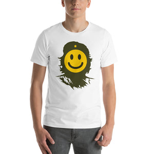 Smiler Happy Face Che Guevara Emoji Graphic Short-Sleeve T-Shirt